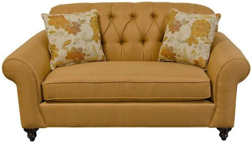 England Stacy Loveseat with Tufted Seat Back