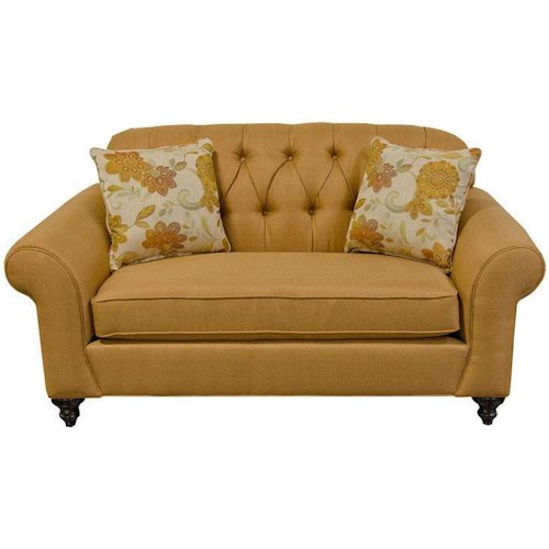 England Stacy Loveseat With Tufted Seat Back Godby Home