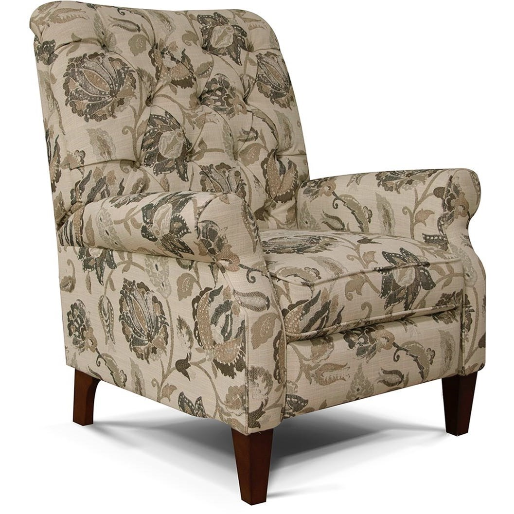 Stella Push Back Chair With Tufted Back By England