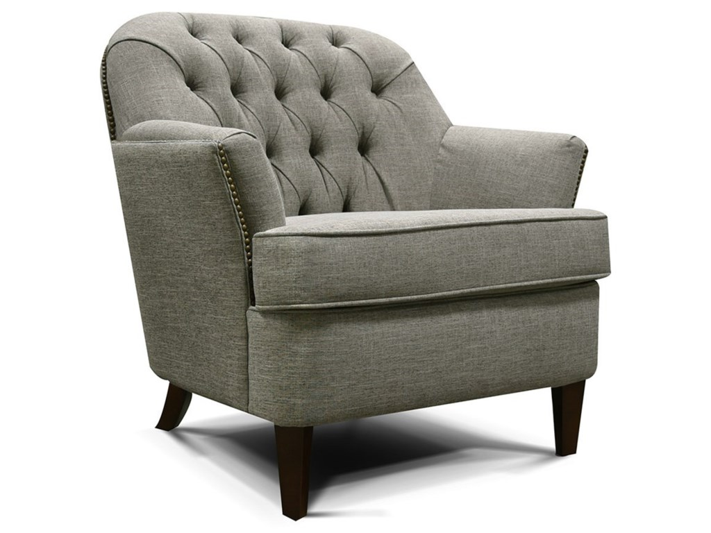 Teagan tufted back chair with traditional style by england