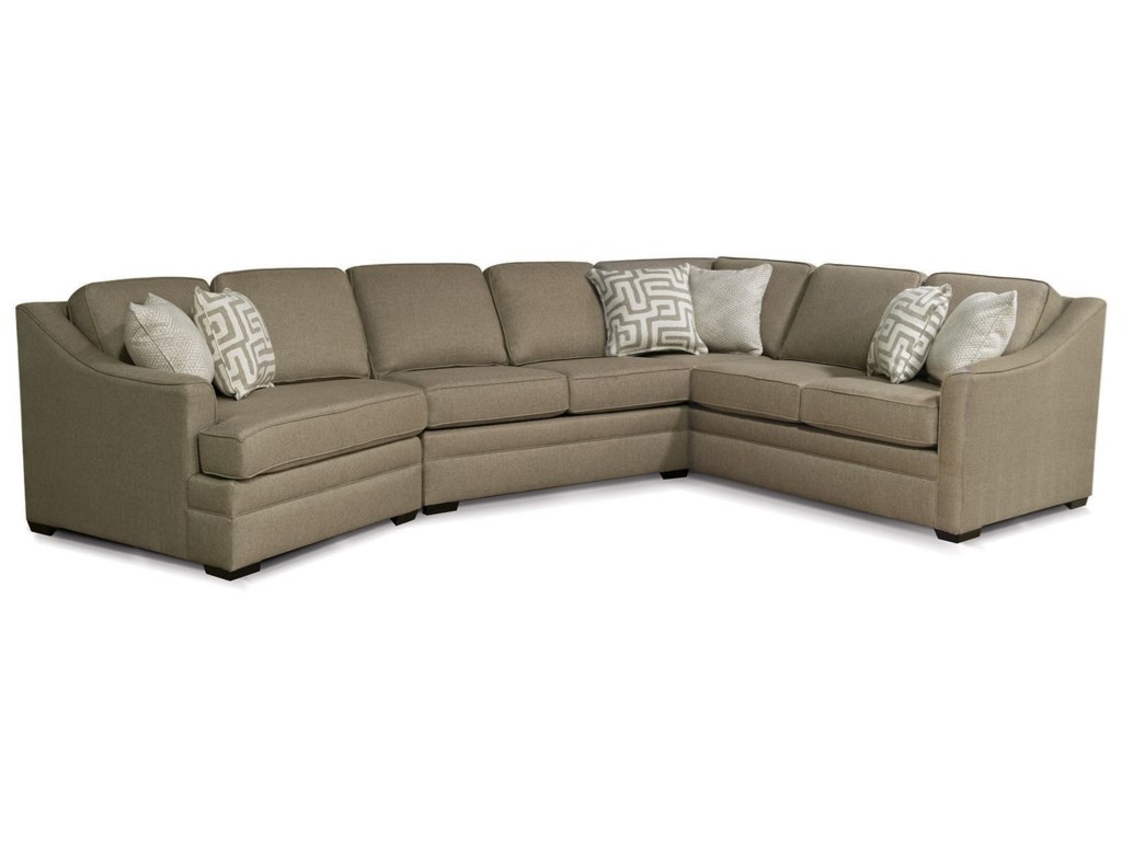 England Thomas Sectional Sofa with Cuddler   Furniture and ...