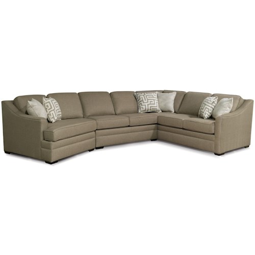 England Thomas Sectional Sofa with Cuddler