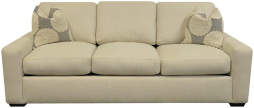 England Treece Stationary Sofa with Block Feet