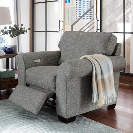 Chair with Power Ottoman