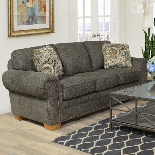 England Walters Sofa with Nailhead Trim - Pilgrim Furniture City ...