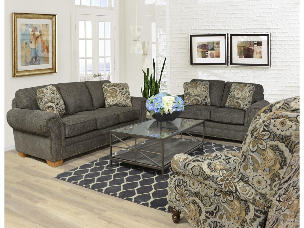 England WaltersLoveseat with Nailhead Trim