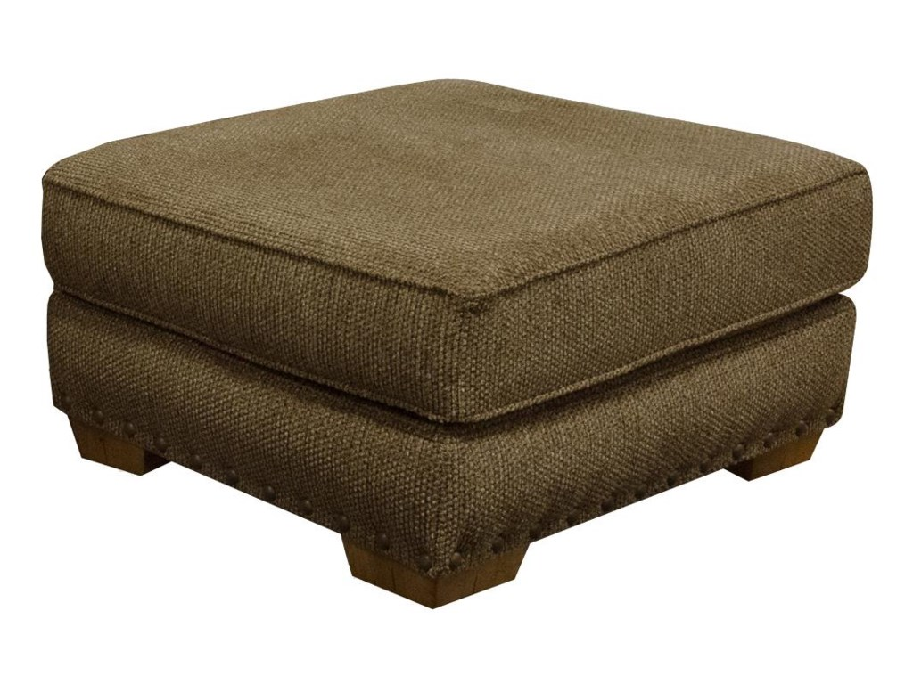 England WaltersOttoman with Nailhead Trim