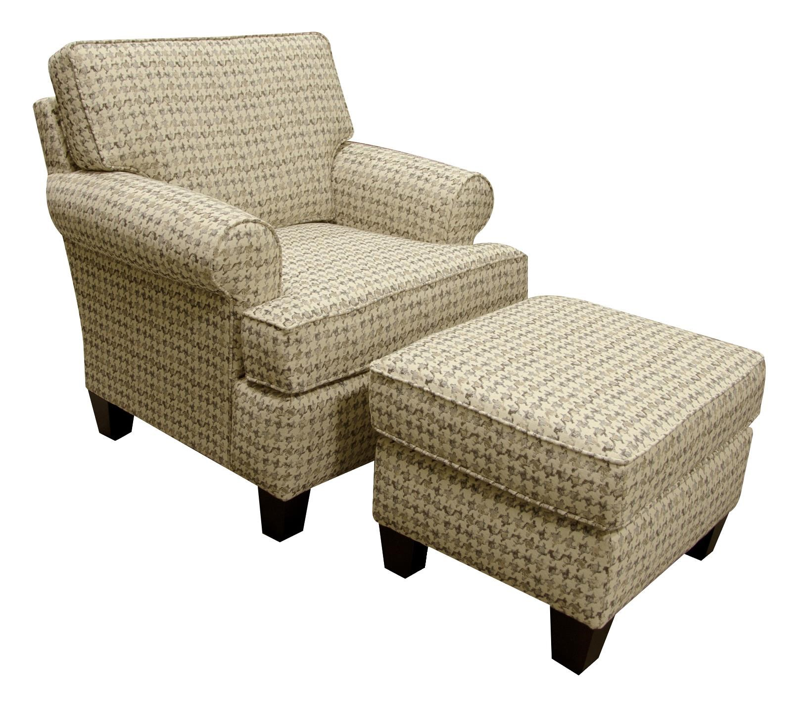 England Weaver Chair And Ottoman Set With Casual Style