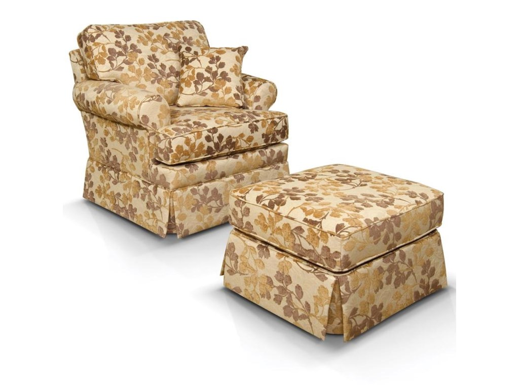 England WilliamTraditional Chair & Ottoman