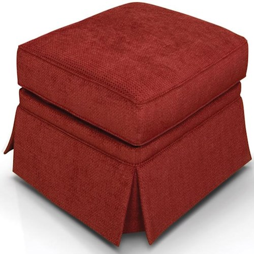 England William Skirted Box Top Ottoman