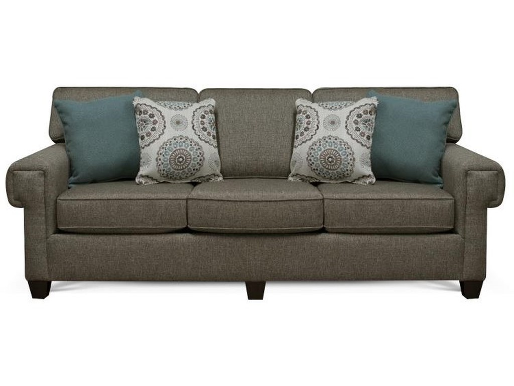 Yonts Sofa with 4 Pillows by England at Van Hill Furniture