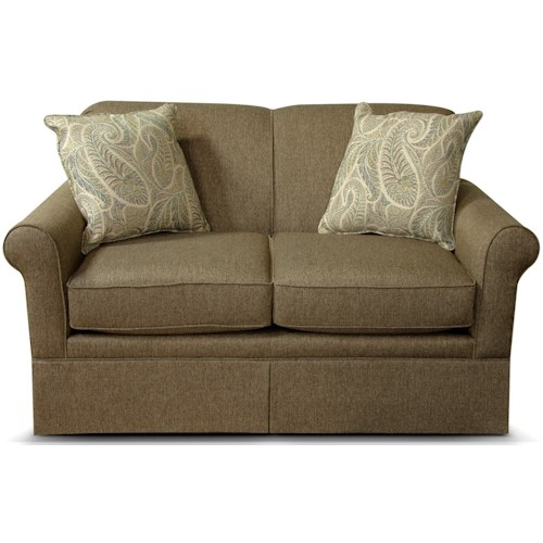 England Zimprich Transitional Loveseat with Skirt