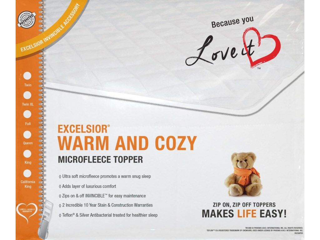 Excelsior Warm & CozyKing Mattress Topper