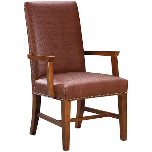 Grove Park 1011  Upholstered Arm Chair with Nail Head Trim