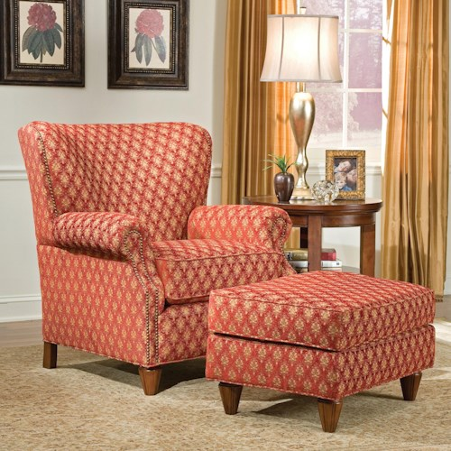 Fairfield 1403 Traditional Chair and Ottoman