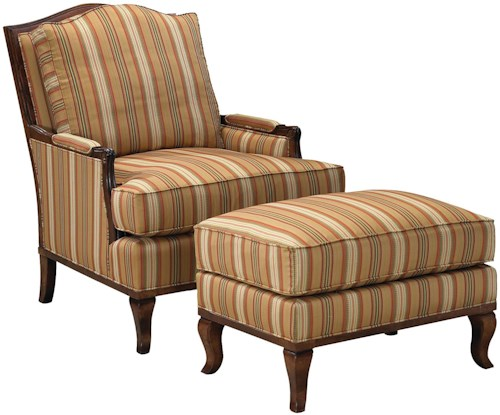 Grove Park 1416 Exposed Wood Lounge Chair and Ottoman