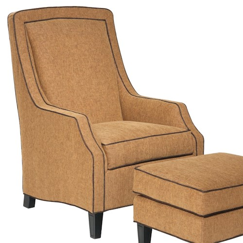 Fairfield 1532 Traditional Arching Lounge Chair