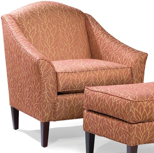 Fairfield 2710 Stationary Chair with Flair Tapered Arms