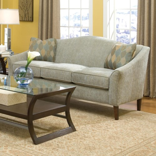 Fairfield 2710 Stationary Sofa with Tall Wood Legs