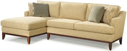 Grove Park 2714 Contemporary Sectional Sofa with Left-Side Chaise