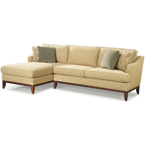 Fairfield 2714 Contemporary Sectional Sofa with Left-Side Chaise