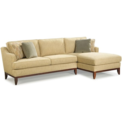Grove Park 2714 Contemporary Sectional Sofa with Right-Side Chaise