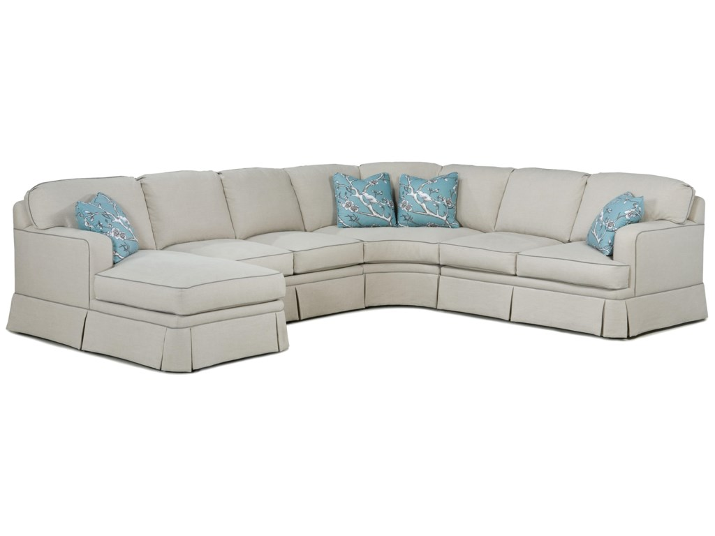 Fairfield 2TKS Contemporary Sectional Sofa | Olinde\'s ...