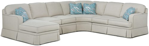 Grove Park 2TKS Contemporary Sectional Sofa