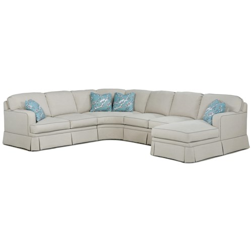 Fairfield 2TKS Modern Sectional Sofa