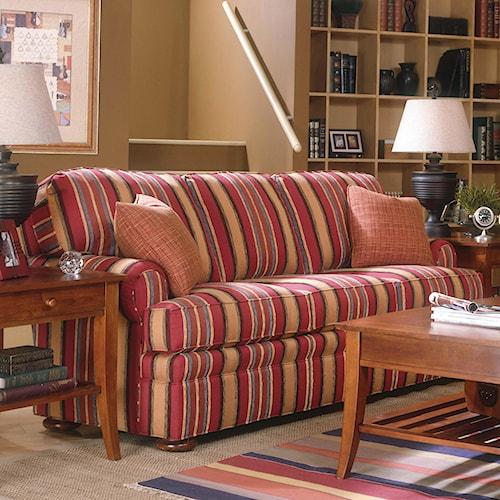 Fairfield 3722 Queen Sleeper Sofa with Bun Feet