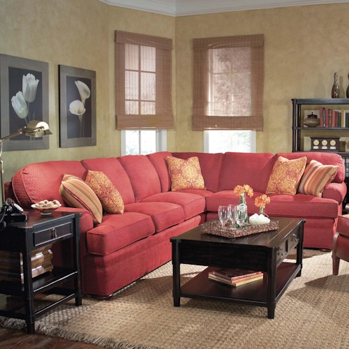 Grove Park 3722 2 Piece Sectional Sofa with Bun Feet