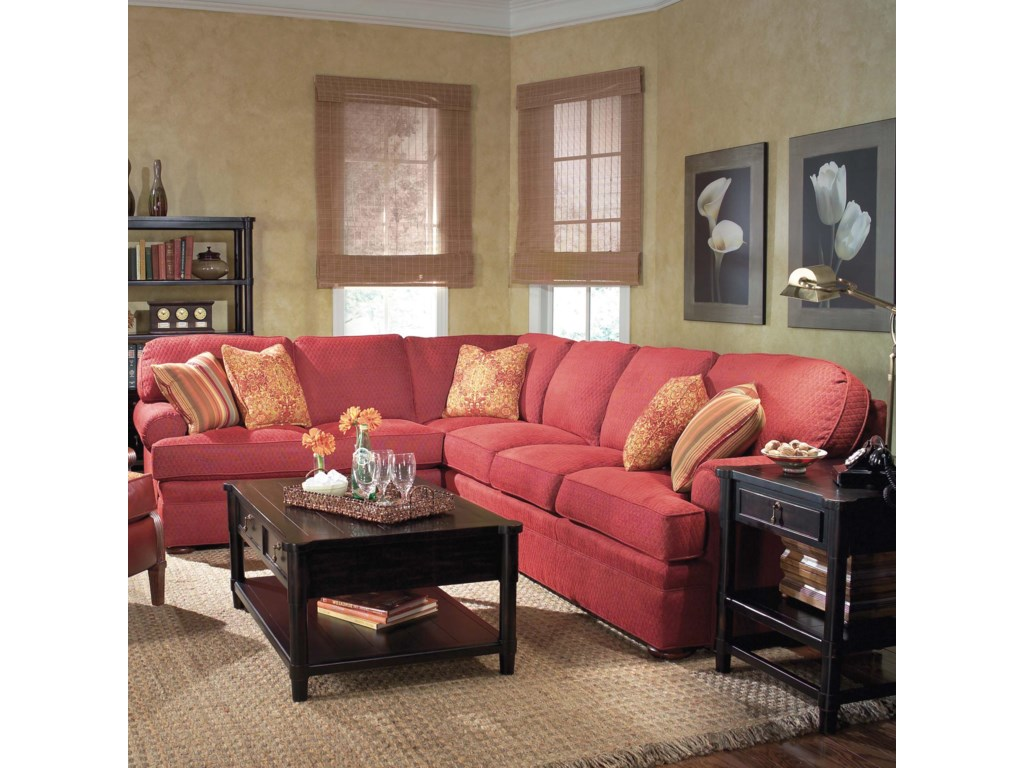 Fairfield 3722Sectional Sofa with Sleeper