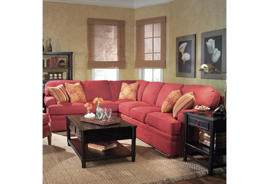 Fairfield 3722 2 Piece Sectional Sofa with Right Arm Queen ...