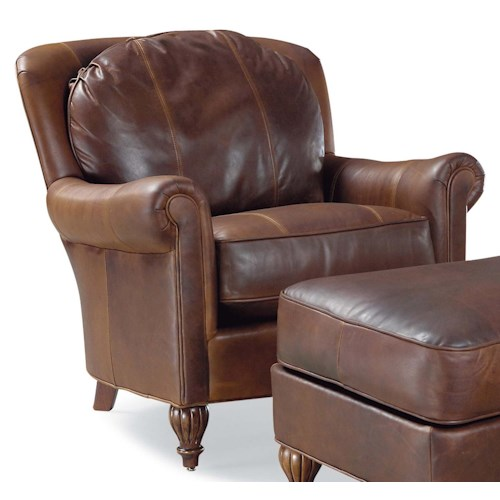 Fairfield 3724 Traditional Stationary Chair with Rolled Arms