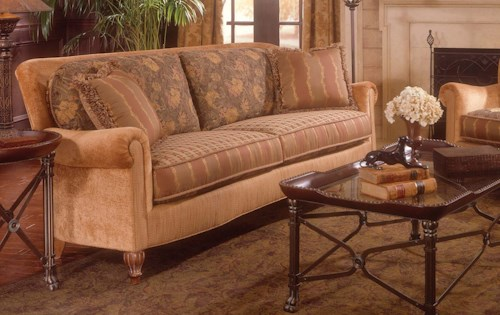 Fairfield 3724 Traditional Stationary Sofa with Rolled Arms