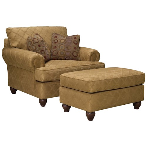 Fairfield 3738 Extra Wide Chair and Ottoman Set