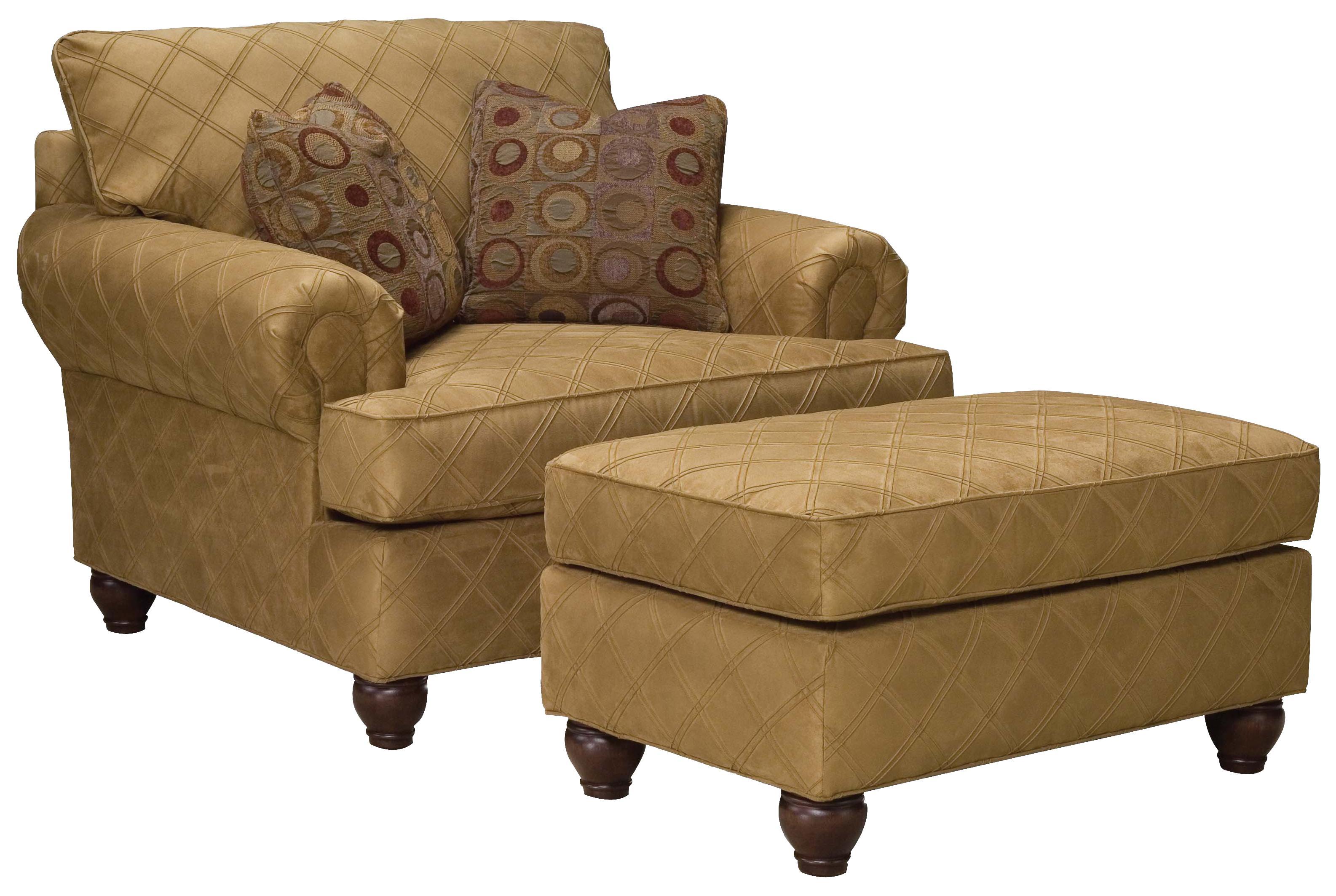 Fairfield 3738 Extra Wide Chair And Ottoman Set   Belfort Furniture   Chair  U0026 Ottoman