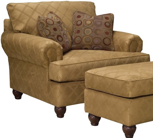 Grove Park 3738 Wide Upholstered Lounge Chair