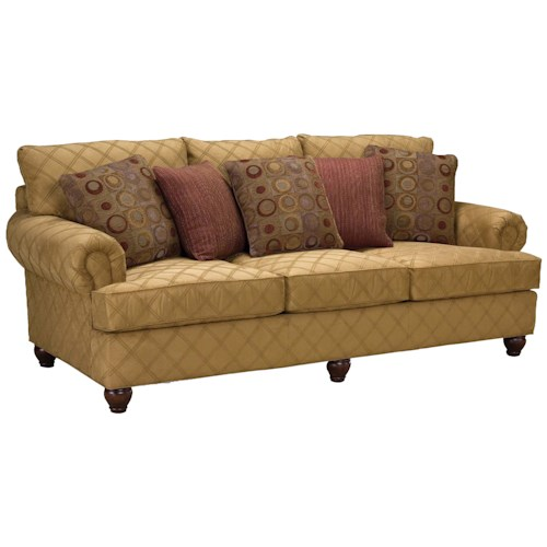 Fairfield 3738 Rolled Arm Comfort Sofa