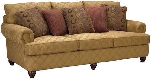 Fairfield 3738 Rolled Arm Comfort Sofa