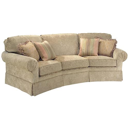 Fairfield 3766 Corner Sofa with Sea Shell Pleats