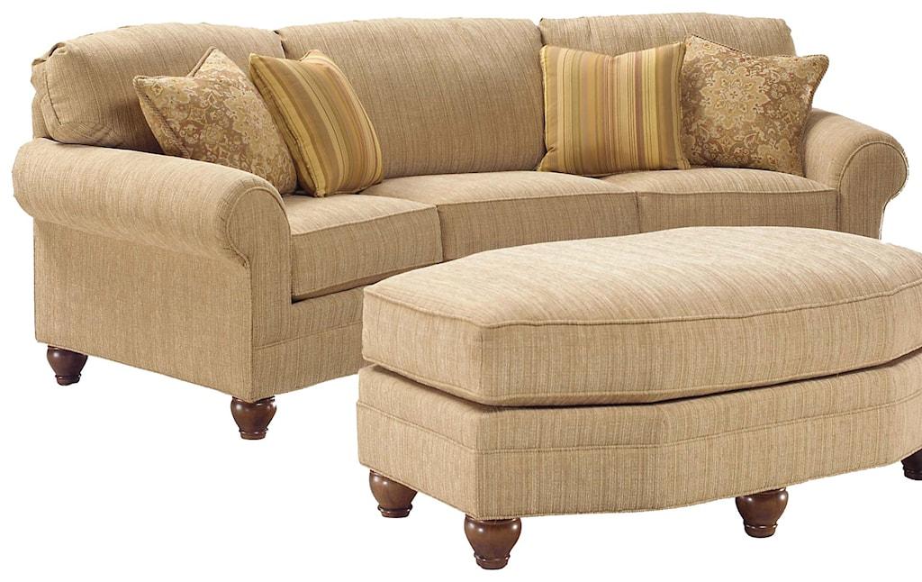 Fairfield 3768 Curved Arch Sofa Belfort Furniture Conversation