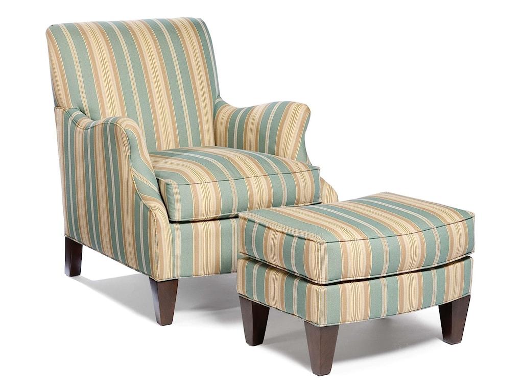 Fairfield 5706Stationary Chair and Ottoman