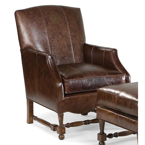 Fairfield 5758 Traditional Stationary Chair with Chippendale Legs