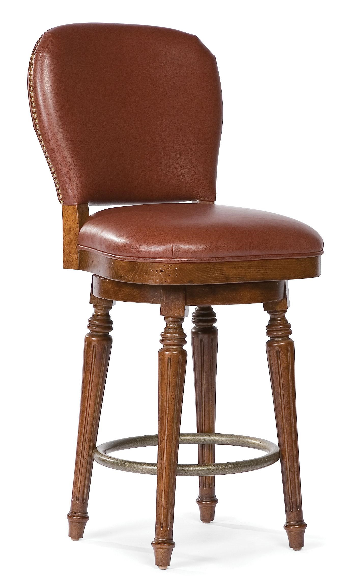 Grove Park Barstools Leather Counter Stool With Nailhead