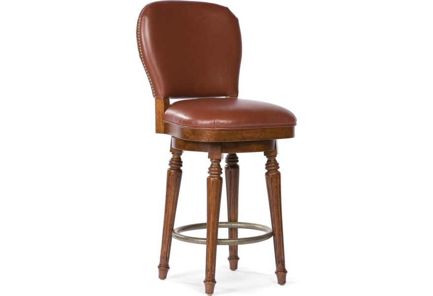 Tremendous Grove Park Barstools Leather Counter Stool With Nailhead Uwap Interior Chair Design Uwaporg