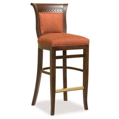 Fairfield Barstools Traditional Barstool w/ Upholstered Seat