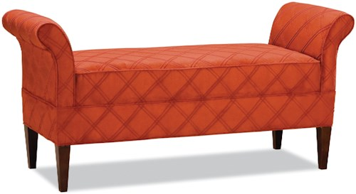 Fairfield Benches Back-Less Bench with High Rolled Arms
