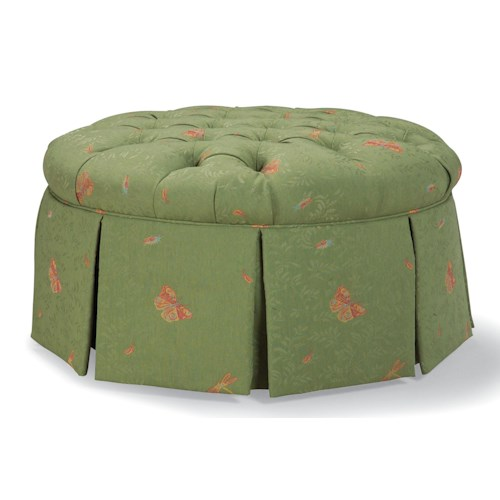 Fairfield Ottomans Round Ottoman with Skirt