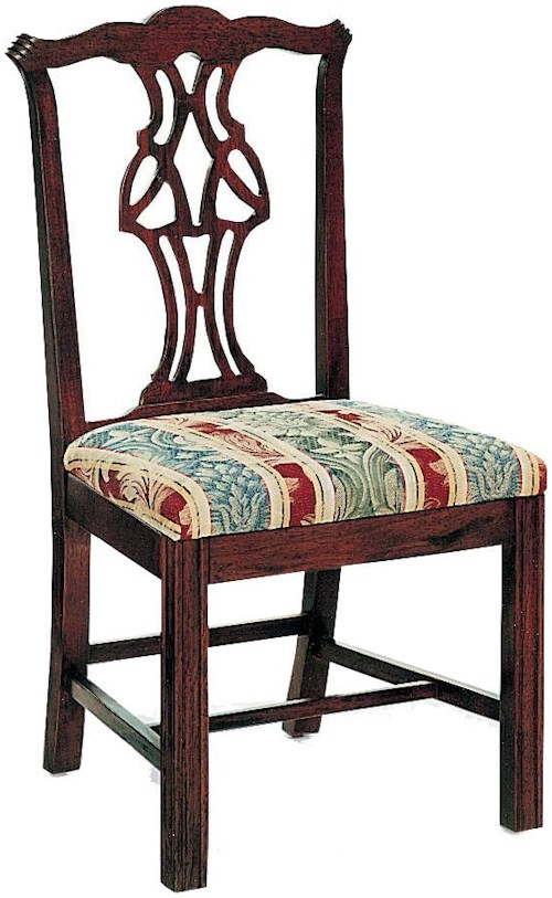 Fairfield Chairs Pierced Splat Back Chair with Upholstered Cushion